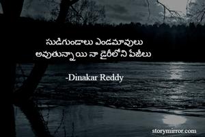సుడిగుండాలు ఎండమావులు అవుతున్నాయి నా డైరీలోని పేజీలు   -Dinakar Reddy