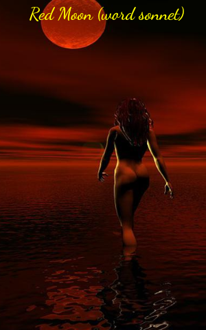 Red Moon (word sonnet)