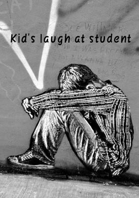 Kid's Laugh At Student