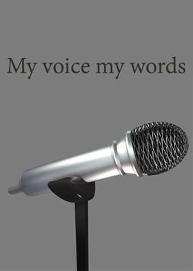 My voice my words