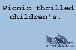 Picnic thrilled children's.