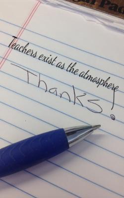 Teachers Exist As The Atmosphere