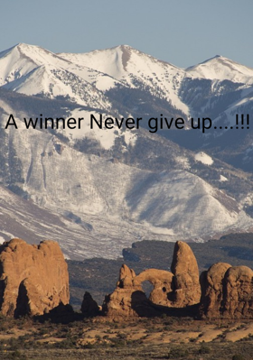 A Winner Never gives up....!!!