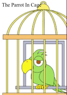 The Parrot In Cage