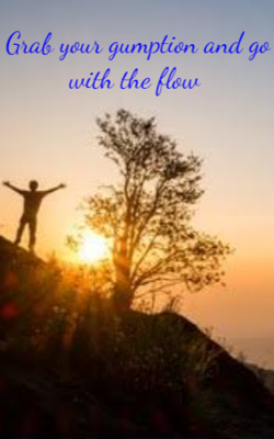 Grab your gumption and go with the flow