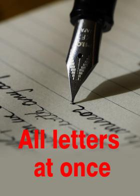 All letters at once.