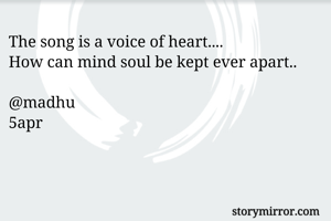 The song is a voice of heart....