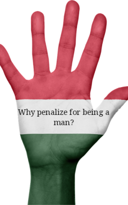 Why penalize for being a man?