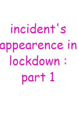 incident's appearence in lockdown : part 1