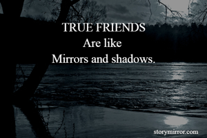 TRUE FRIENDS Are like  Mirrors and shadows.