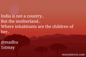 India is not a country..