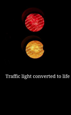 Traffic light converted to life