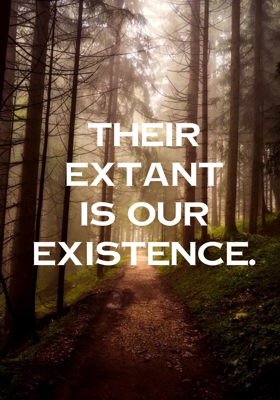 Their extant is our existence
