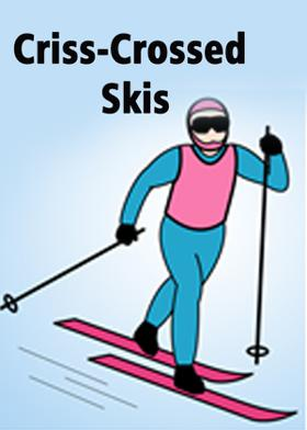 Criss-Crossed Skis