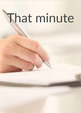 That minute